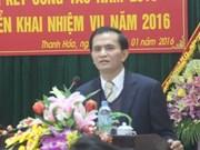 Destituyen a vicepresidente del Comité Popular de la provincia de Thanh Hoa