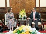 Presidente de Vietnam recibe a titular de IPU