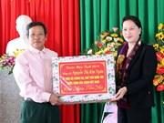 Presidenta del Parlamento vietnamita visita Ha Tinh en ocasión del próximo Tet
