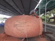Reconocen a tambor de madera de Dong Thap como el más grande de su tipo en Vietnam