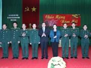Presidenta del Parlamento resalta esfuerzos de guardia fronteriza de Ha Giang