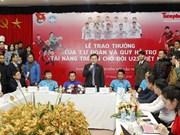 Unión vietnamita de Jóvenes Comunistas honra a miembros del equipo de fútbol sub-23