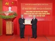 Máximo dirigente partidista de Vietnam recibe insignia por 50 años de militancia