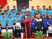 Presidenta parlamentaria enfatiza desempeño de selección de fútbol sub-23