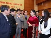 Presidenta del Parlamento destaca papel de prensa para acercar electorado a diputados