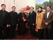 Arzobispo de la Archidiócesis de Hanoi felicita a autoridades de Hanoi por el Tet 2018