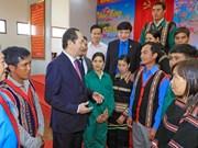 Presidente vietnamita felicita a pobladores en zonas fronterizas en ocasión del Tet