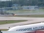 Suspenden vuelos en aeropuerto singapurense Changi por accidente en exposición de aviación