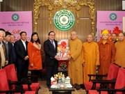 Dirigente de Hanoi felicita Sangha Budista de Vietnam en ocasión de Tet