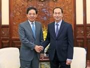 Presidente de Vietnam recibe a saliente embajador de China