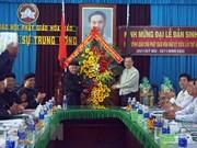 Autoridades locales de Vietnam felicitan a comunidad religiosa en ocasión del Tet