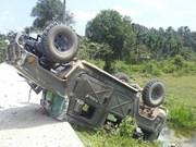 Bomba casera hiere a cuatro soldados en Tailandia