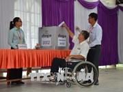 Más de 99 por ciento de electores camboyanos ejecutan su derecho a voto
