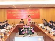 Presidenta del Parlamento vietnamita exhorta al Ministerio de Finanzas a elevar su gestión