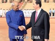Presidentes de Vietnam e India mantienen conversaciones