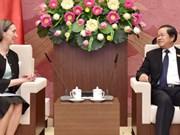 Vicepresidente del Parlamento vietnamita recibe a embajadora mexicana