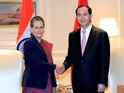 Presidente de Vietnam mantiene encuentros con dirigentes y funcionarios de la India