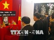 Primer ministro argelio rinde tributo al expremier Phan Van Khai
