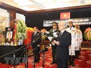Honras fúnebres en memoria del expremier ministro Phan Van Khai