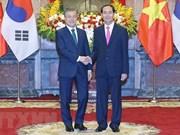 Recibe presidente de Vietnam a su homólogo de Sudcorea