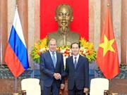 Presidente de Vietnam recibe al canciller ruso, Serguei Lavrov