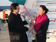 Presidenta de la Asamblea Nacional de Vietnam arriba a Ginebra para IPU 138