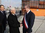 Efectúan en París recepción a máximo dirigente partidista vietnamita