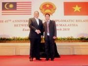 Vietnam y Malasia mantienen excelentes relaciones de colaboración