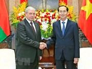 Presidente de Vietnam aplaude cooperación con Bielorrusia