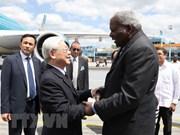 Máximo dirigente partidista de Vietnam inicia visita a Cuba