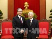 Máximo dirigente partidista de Vietnam recibe al canciller chino