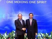 Premieres de Vietnam y Camboya se reúnen en marco de Cumbre de MRC