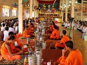 Etnias vietnamitas Khmer celebran festival de Chol Chnam Thmay