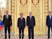 Vladimir Putin destaca desarrollo de relaciones Vietnam-Rusia