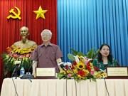 Secretario general del Partido visita An Giang