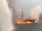 Malasia: 38 desaparecidos en incendio de nave de perforación costa afuera