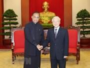 Líder partidista de Vietnam recibe al presidente del Parlamento de Sri Lanka
