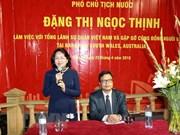 Vicepresidenta de Vietnam se reúne con connacionales en Sídney
