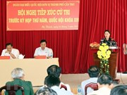 Presidenta parlamentaria vietnamita intercambia con votantes sobre situación socioeconómica