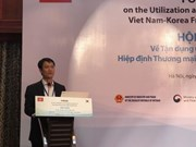 Buscan aprovechar beneficios del Tratado de Libre Comercio Vietnam-Sudcorea