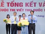 Carta sobre Papá Nöel gana concurso de escritura de UPU en Vietnam