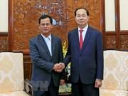 Presidente de Vietnam aboga por impulsar cooperación con Laos en seguridad