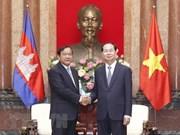Presidente de Vietnam destaca cooperación con Camboya