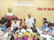 Premier Xuan Phuc elogia avances socioeconómicos de Ha Nam