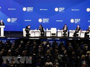 Dirigente partidista vietnamita encuentra con directora de FMI