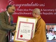 Venerable Thich Duc Thien, primer vietnamita condecorado con Padma Shri de la India