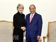 Primer ministro de Vietnam recibe a la canciller de Australia
