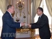 Embajador vietnamita presenta cartas credenciales al Príncipe de Mónaco