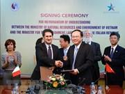 Vietnam e Italia colaboran en medio ambiente y adaptación al cambio climático