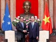 Presidente de Vietnam aboga por consolidar asociación con Micronesia